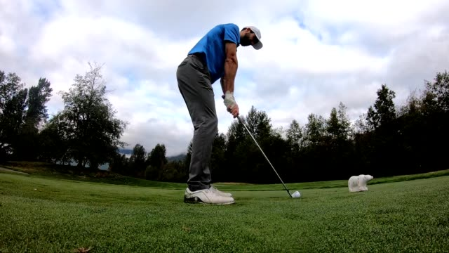 golfer making the drive - golf swing motion stock videos & royalty-free footage