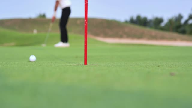 golfer putting golf ball on the green golf,sports cinemagraphs - golf club stock videos & royalty-free footage