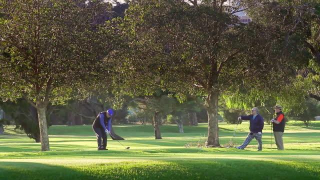 WS Golfer teeing off at Albert Park / Melbourne, Victoria, Australia