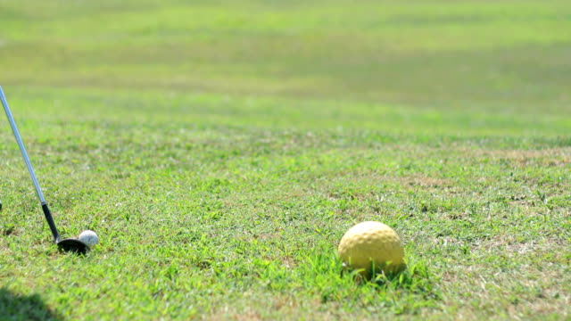 golfer teeing off - golf club stock videos and b-roll footage
