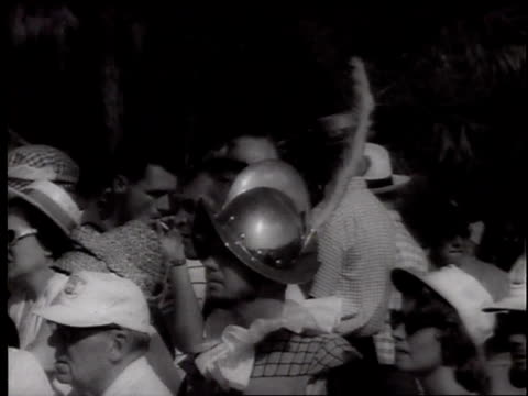 golfers at de soto festival tournament sign for country club sam snead jerry barber arnold palmer bob goalby / crowd of 10000 watches on golf course... - 1960 stock videos & royalty-free footage