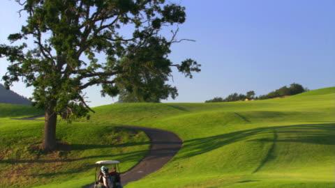vídeos de stock, filmes e b-roll de golfers in carts - veja outros clipes desta filmagem 1271