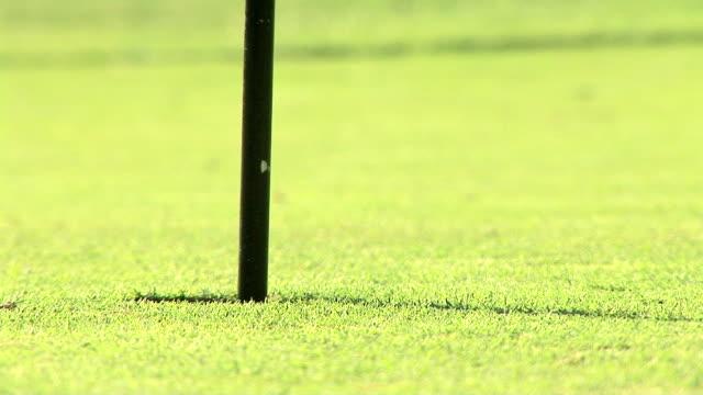 vídeos y material grabado en eventos de stock de golfing - bandera de golf