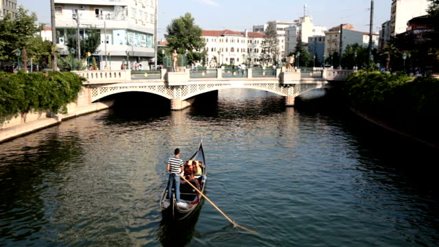 gondola and romance on river - venice stock videos and b-roll footage
