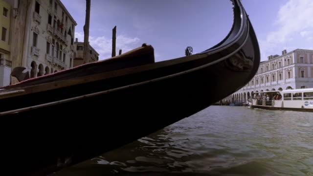 Gondola boat for bring passengers to visit Venice city
