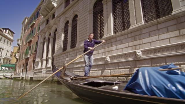 VENICE, ITALY - May 2: A gondola near the Ponte Tron bridge on May 2, 2012 in Venice.