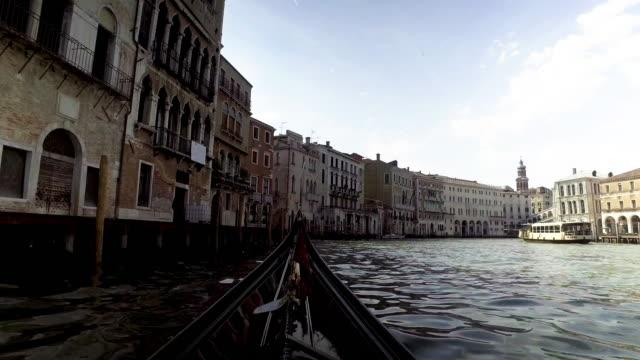 Gondola service boat traditional in Venice ,Italy.