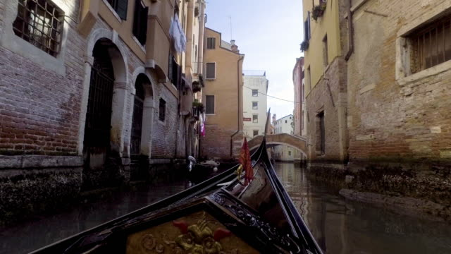 gondola service boat traditional in venice ,italy. - venice italy stock videos and b-roll footage