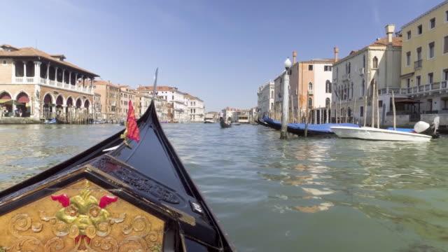 Gondola service tourist people travel around Venice canal grand