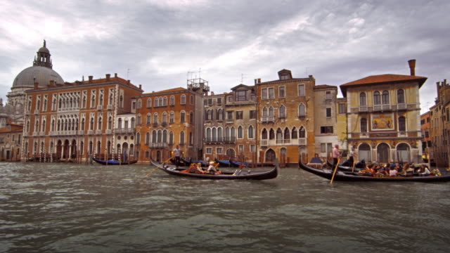 Gondolas and waterfront buildings of Venice