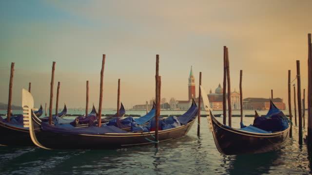 MS - Gondolas near the Doge's Palace and San Giorgio Maggiore Church