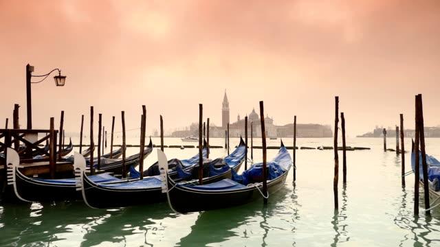 HD-Gondeln auf die Lagune von Venedig-Zeitlupe