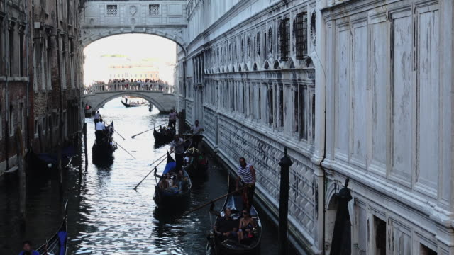 gondolas on the venetian lagoon - grand canal venice stock videos & royalty-free footage