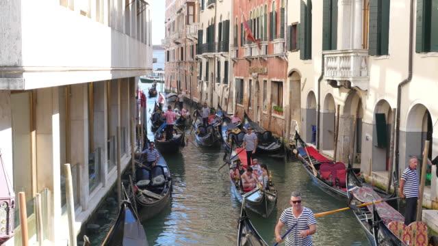 gondolas, venice, italy - venice italy stock videos & royalty-free footage