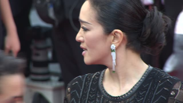 gong li at opening ceremony / 'grace of monaco' red carpet at palais des festivals on may 14, 2014 in cannes, france. - roberto cavalli designer label stock videos & royalty-free footage