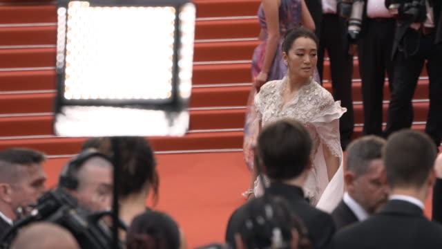 slomo gong li at 'the dead don't die' red carpet arrivals opening ceremony the 72nd cannes film festival on may 14 2019 in cannes france - the dead don't die 2019 film stock videos and b-roll footage