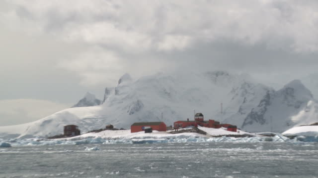 gonzalez videla, chilean research station. waterboat point, paradise bay - antarctica research stock videos & royalty-free footage
