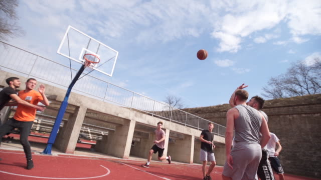 good basketball assistance finished with points - doing a favour stock videos & royalty-free footage