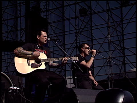 good charlotte at the kroq weenie roast at verizon amphitheater in irvine, california on june 14, 2003. - kroq stock videos & royalty-free footage