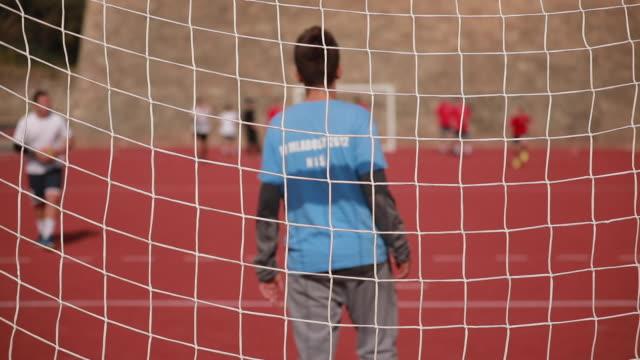 good defense - goalkeeper stock videos & royalty-free footage