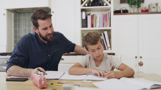 a good education starts at home - quaderno video stock e b–roll