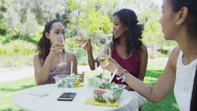 good friends eating together at caf_ - durevolezza video stock e b–roll