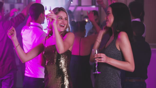 good friends, great night - disco dancing stock videos & royalty-free footage