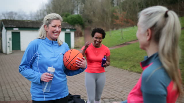 good game of netball ladies! - leisure activity stock videos & royalty-free footage