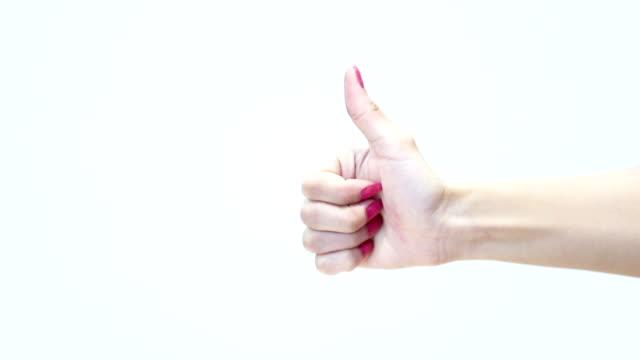 vidéos et rushes de bonne chance, main chanter! - pouce partie du corps