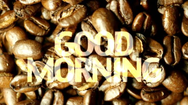 good morning coffee. hd - western script stock videos & royalty-free footage