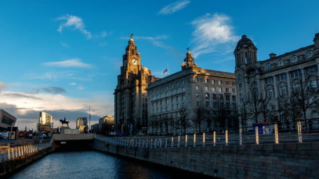 good morning liverpool, england, uk - liverpool england stock videos & royalty-free footage