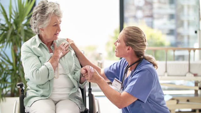 good news is the best news - nursing assistant stock videos and b-roll footage
