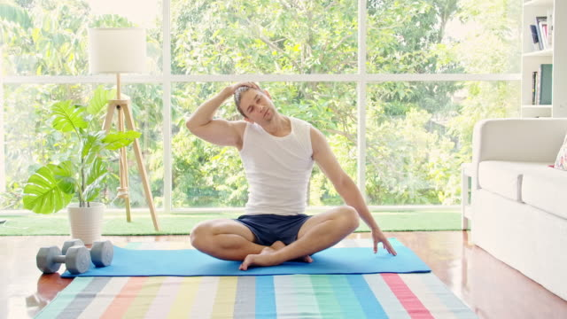 good now relax for a bit. - exercise room stock videos & royalty-free footage