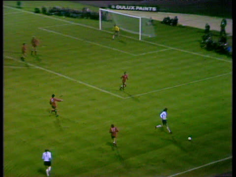 good passing move results in fine right foot shot by colin bell saved well by polish goalkeeper jan tomaszewski during crucial world cup qualifier... - world cup qualifying round stock videos and b-roll footage