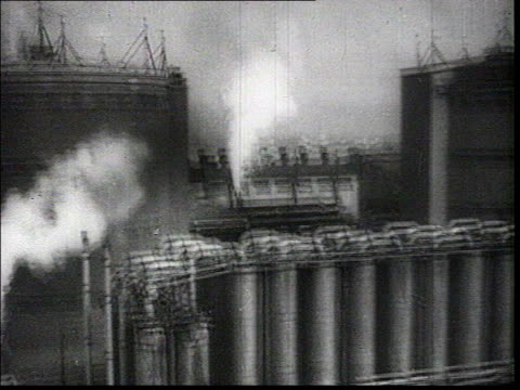 good propaganda sequence showing soviet industrialization and newly built modern factories : factories, hundreds of trucks parked near factory,... - 1935 stock videos & royalty-free footage