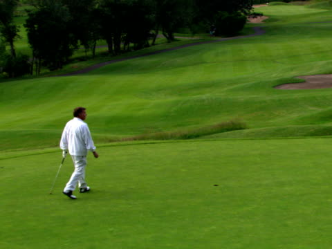 good putt, not-so-good putt - see other clips from this shoot 1271 stock videos and b-roll footage