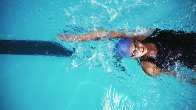 good things come to those  who swim - backstroke stock videos & royalty-free footage