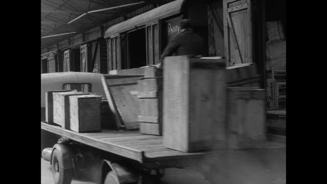 goods damaged during transport - british rail stock videos & royalty-free footage