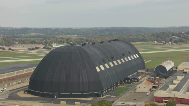 WS DS ZO AERIAL Goodyear Air dock / Akron, Ohio, United States