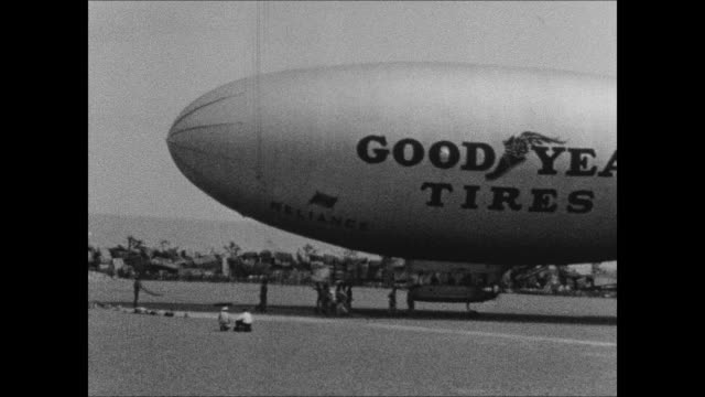 goodyear blimp reliance at 1933 chicago world's fair - chicago world's fair stock videos & royalty-free footage