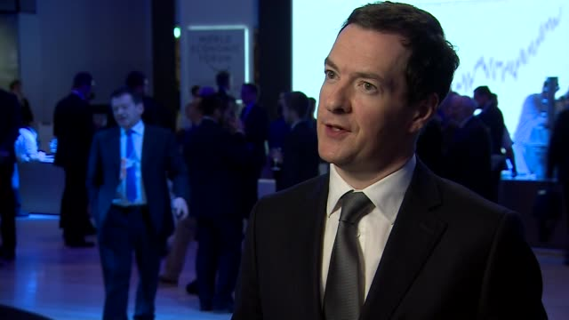 google agrees to pay back taxes switzerland davos int george osborne mp interview sot this is a real indication of this government's approach / when... - paying taxes stock videos & royalty-free footage