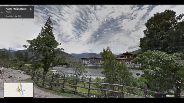 stockvideo's en b-roll-footage met google desvelo algunos de los misterios de butan al publicar en su servicio de street view vistas de infarto de los blancos montes los monasterios y... - agua