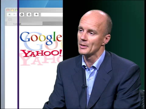 Google move into internet telephone service Nick Hazell interviewed SOT i/c with videowall Clean Feed Tape = D0601381 OR D0601382 00163617 00194023...