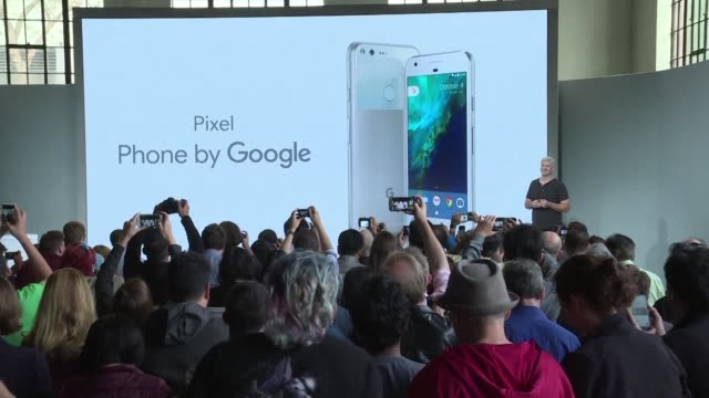 google opens fire on rivals apple samsung and amazon in a new push into hardware as it launches premium priced pixel smartphones and a slew of other... - amazon fire phone stock videos & royalty-free footage