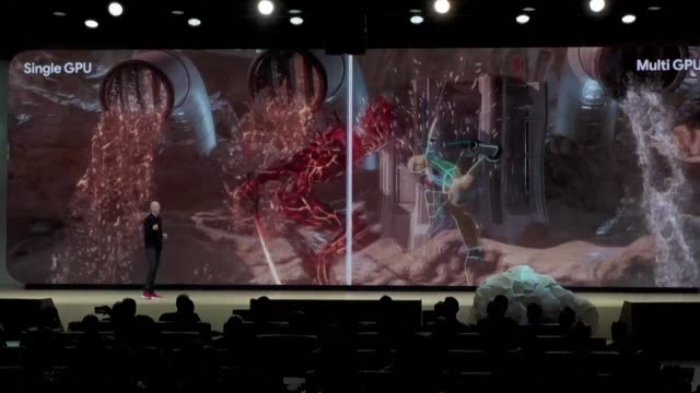 google se dispuso el martes a revolucionar el mundo de los videojuegos con el lanzamiento de stadia una plataforma en streaming destinada a acercar a... - google stock videos & royalty-free footage