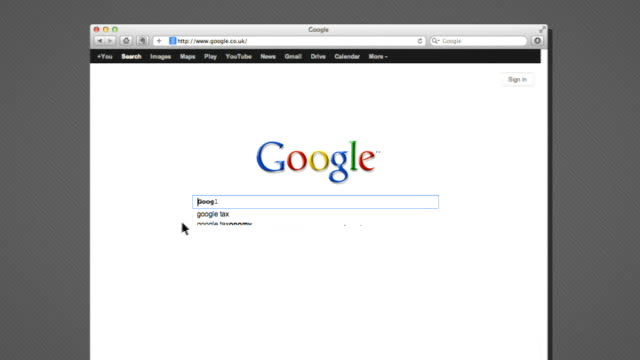 Google tax avoidance scheme attacked by Public Accounts Committee Google screen on computer as 'Google tax' typed in and 'tax avoidance' writing on...