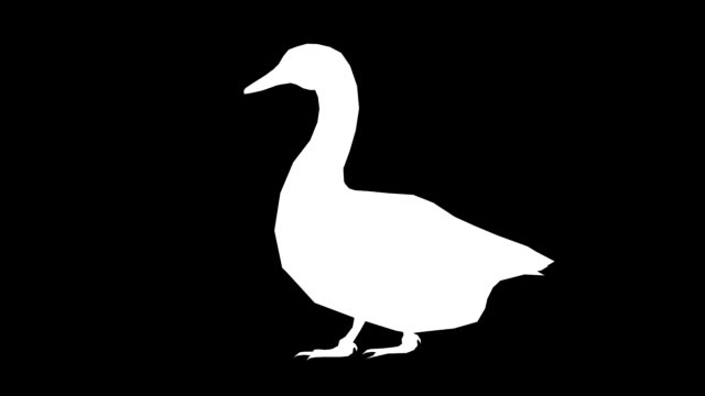 goose walking silhouette (loopable) - duck stock videos & royalty-free footage