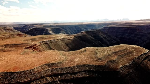 gooseneck national canyon aerial view - national park stock videos & royalty-free footage