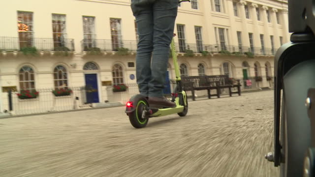 GoPro footage of Inokim electric scooters being rode in London