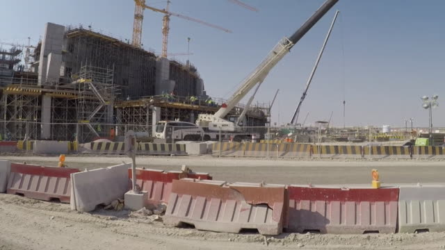 GoPro of Lusail football stadium under construction in Qatar for 2022 World Cup